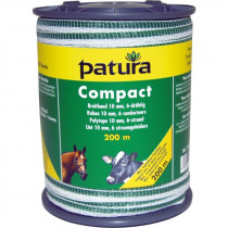 Patura compact lint 10mm wit/groen 200m of 400m