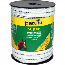 Patura super lint 20mm wit/groen, 200m rol