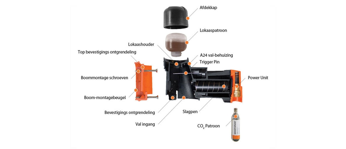 Exploded view van de Goodnature A24